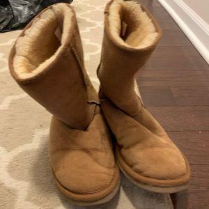 Minnetonka midcalf faux fur boots